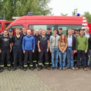 Feuerwehrleute aus Lohne, Südlohne und Brockdorf helfen im Hochwasser-Gebiet