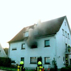 Küchenbrand in der Innenstadt von Lohne