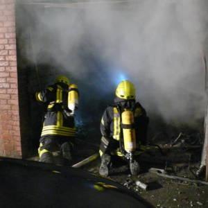Garagenbrand in der Silvesternacht