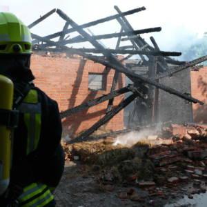 Scheunenbrand in Märschendorf