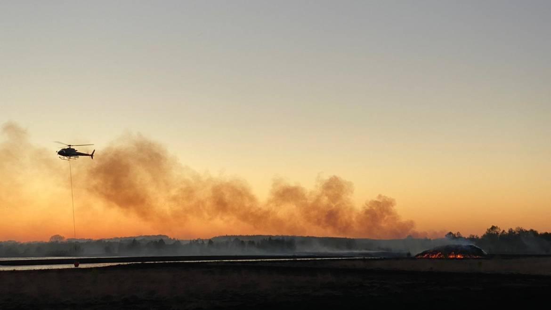 Mehrtägiger Flächenbrand im Moor