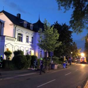 Brand in historischer Villa
