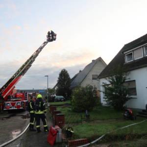 Zimmer im Wohnhaus brennt