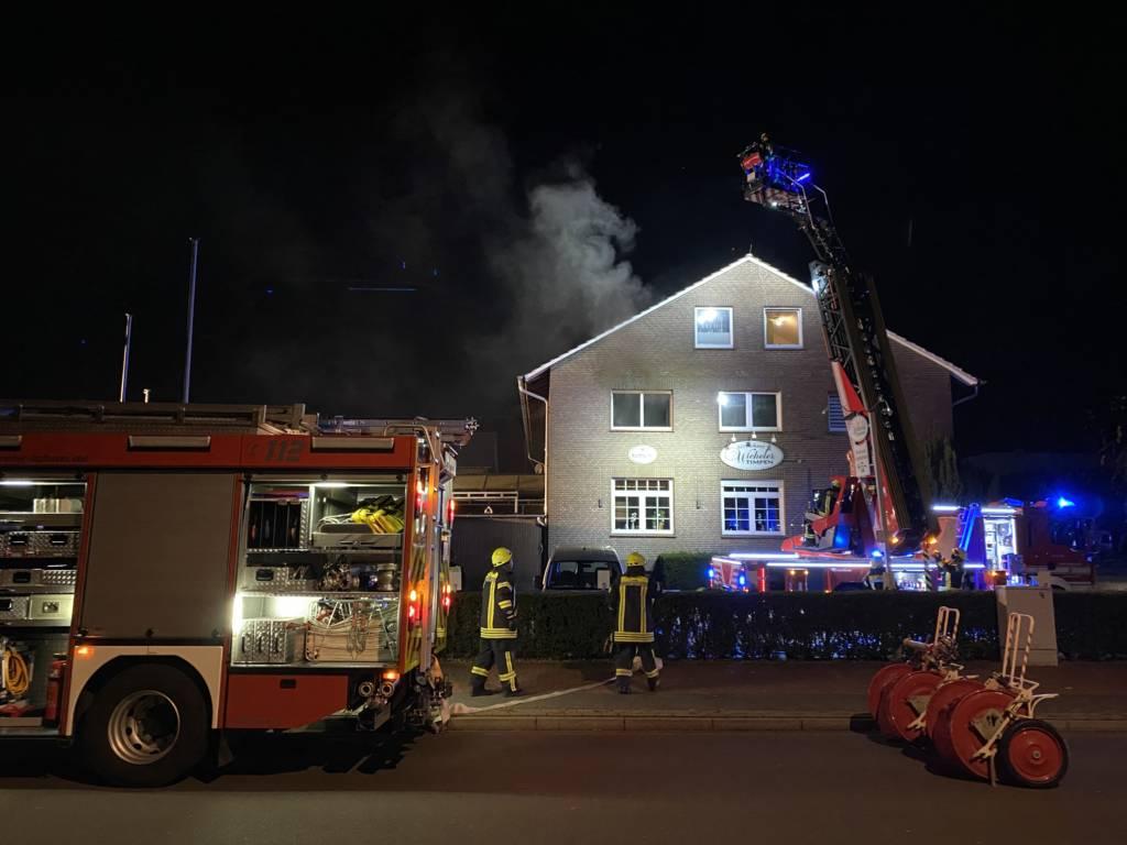 Feuerwehr Lohne löscht Wohnungsbrand an der Lindenstraße