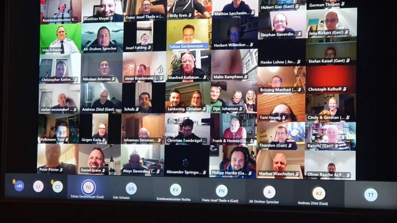 Feuerwehr versammelt sich digital
