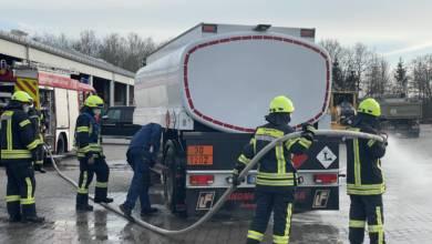 Brand eines Tankwagens